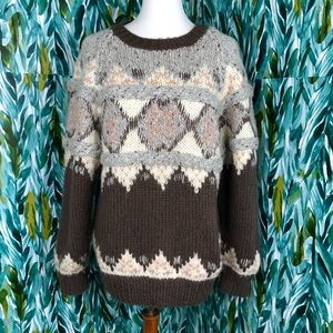 Vintage Novo Hand Knit Woman's Med Winter Sweater